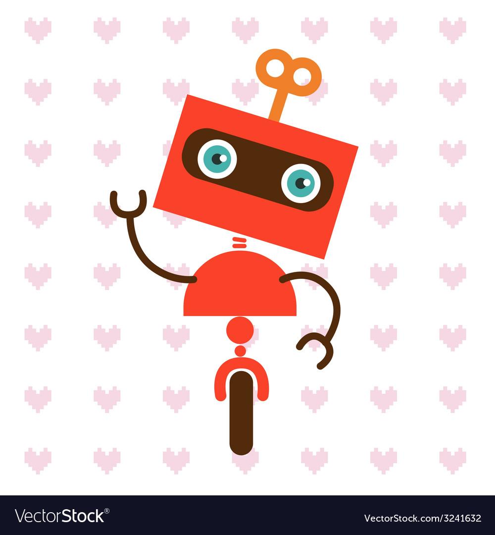 Cute little robot vector | Price: 1 Credit (USD $1)