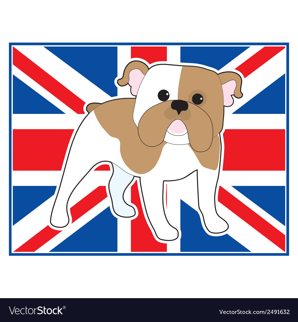 English bulldog flag vector   Price: 1 Credit (USD $1)