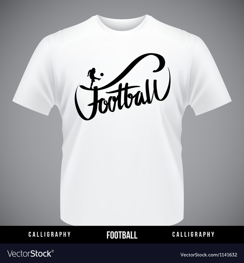 Football hand lettering - handmade calligraphy vector | Price: 1 Credit (USD $1)