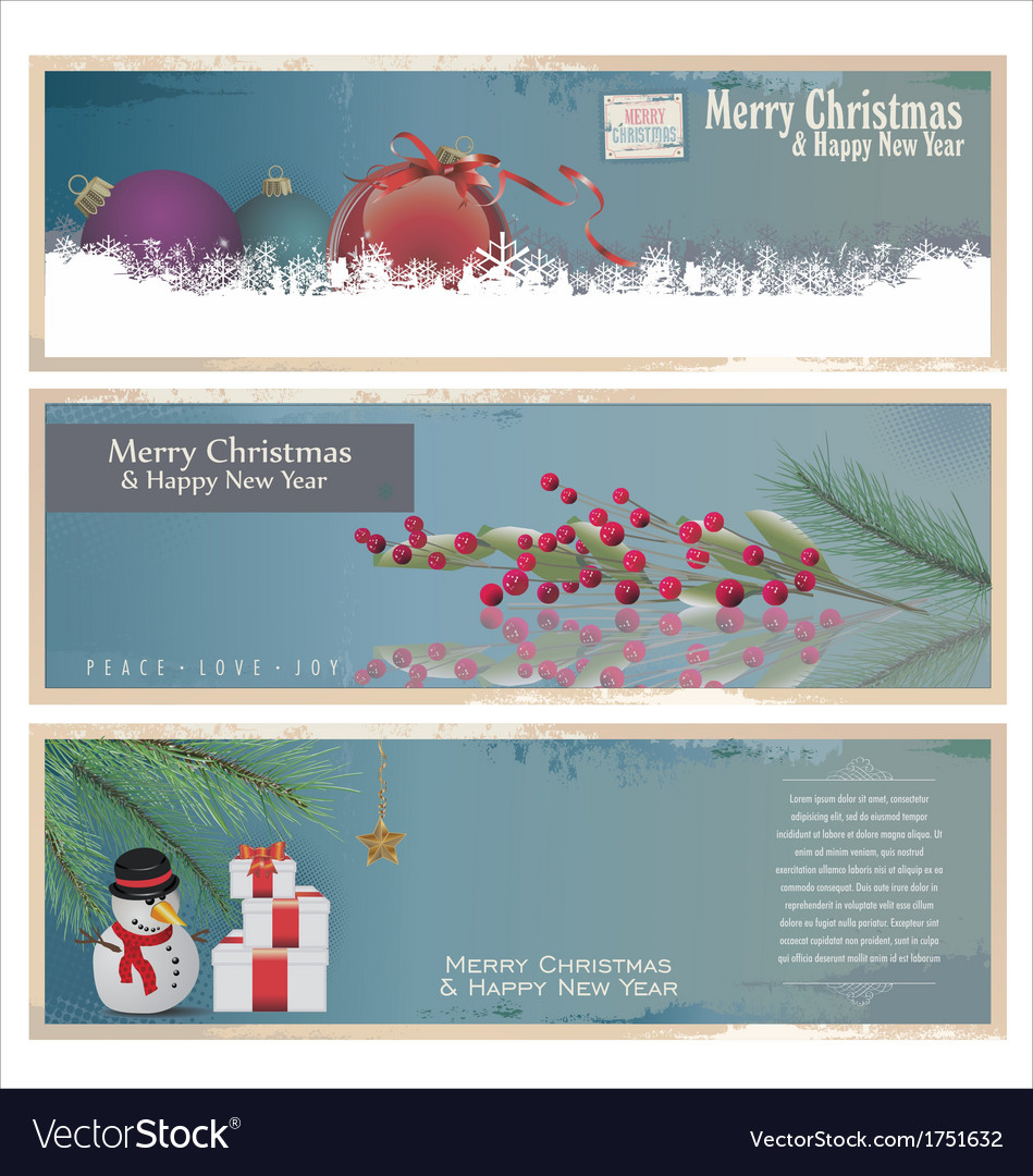 Merry christmas banner vertical background vector | Price: 1 Credit (USD $1)