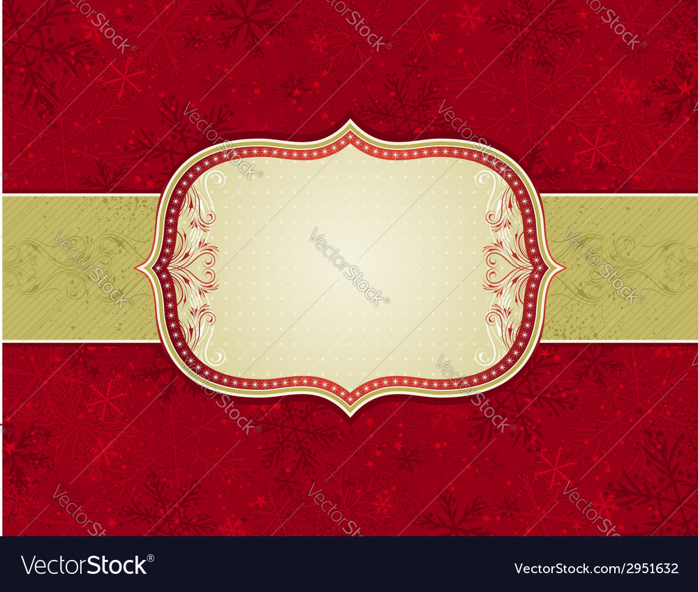 Red background with christmas elements vector | Price: 1 Credit (USD $1)