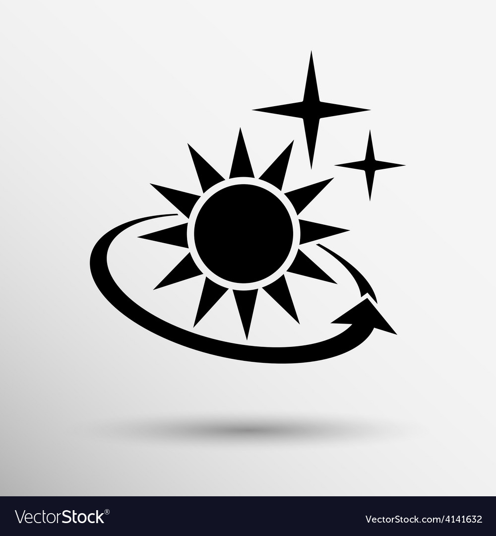 Sun icon sun icon outdoor sunlight vector | Price: 1 Credit (USD $1)