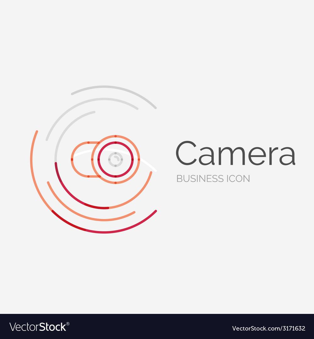 Thin line neat design logo camera concept vector   Price: 1 Credit (USD $1)