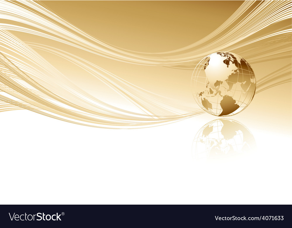 Abstract background with globe vector   Price: 1 Credit (USD $1)