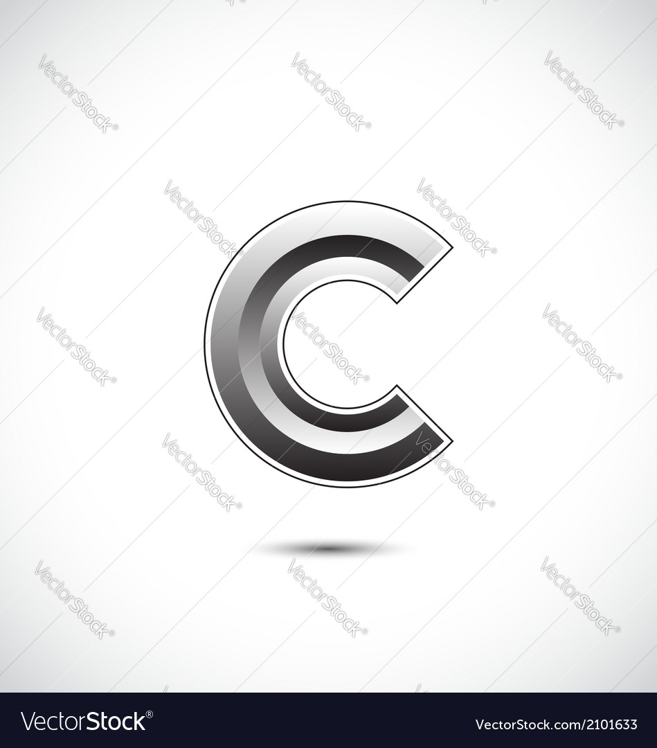 Abstract icon based on the letter c vector | Price: 1 Credit (USD $1)