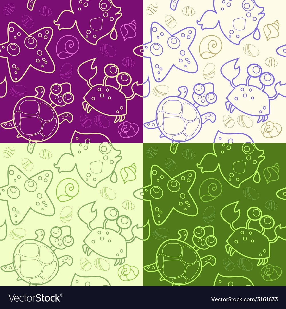 Background with underwater animals vector | Price: 1 Credit (USD $1)