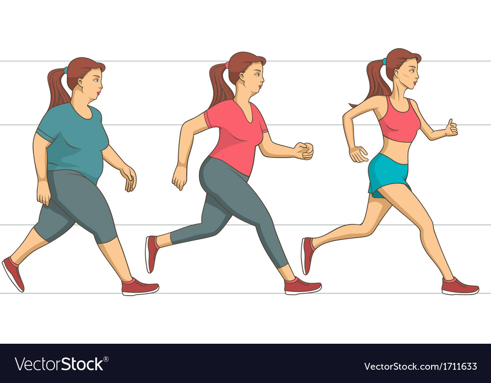 Body weight loss vector | Price: 1 Credit (USD $1)