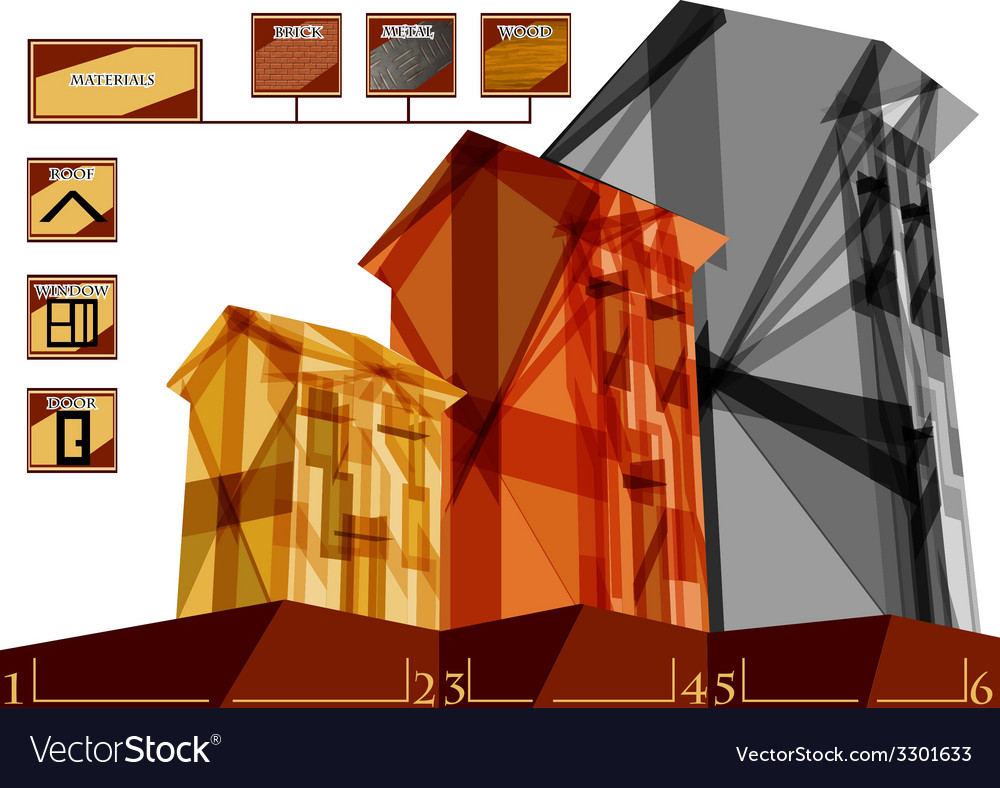 Building infographic vector | Price: 1 Credit (USD $1)