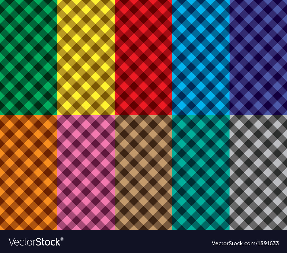 Checkered seamless patterns vector   Price: 1 Credit (USD $1)