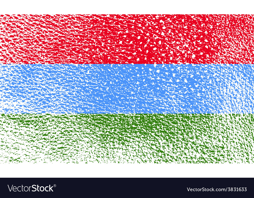 Flag of karelia with old texture vector | Price: 1 Credit (USD $1)