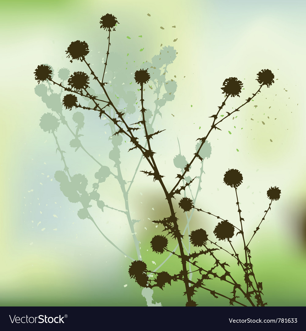 Floral background dandelion vector | Price: 1 Credit (USD $1)