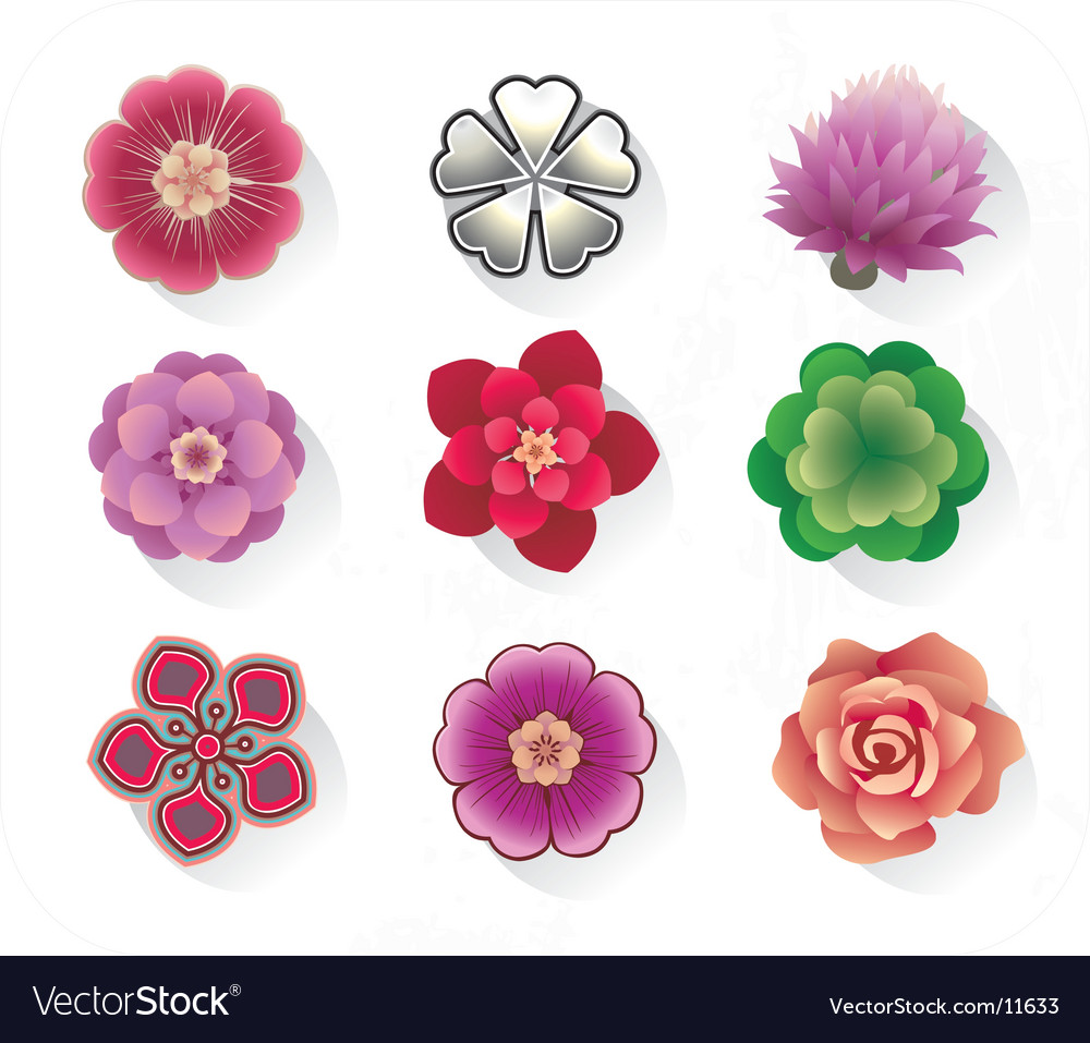 Floral icons vector   Price: 1 Credit (USD $1)