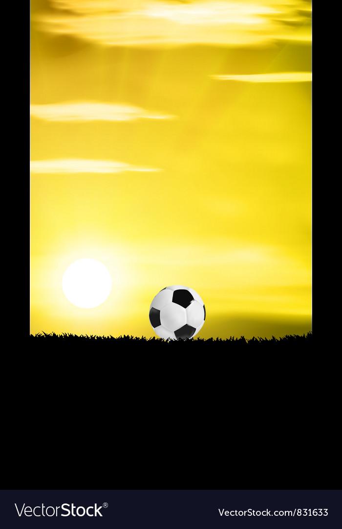 Football grass field vector | Price: 1 Credit (USD $1)
