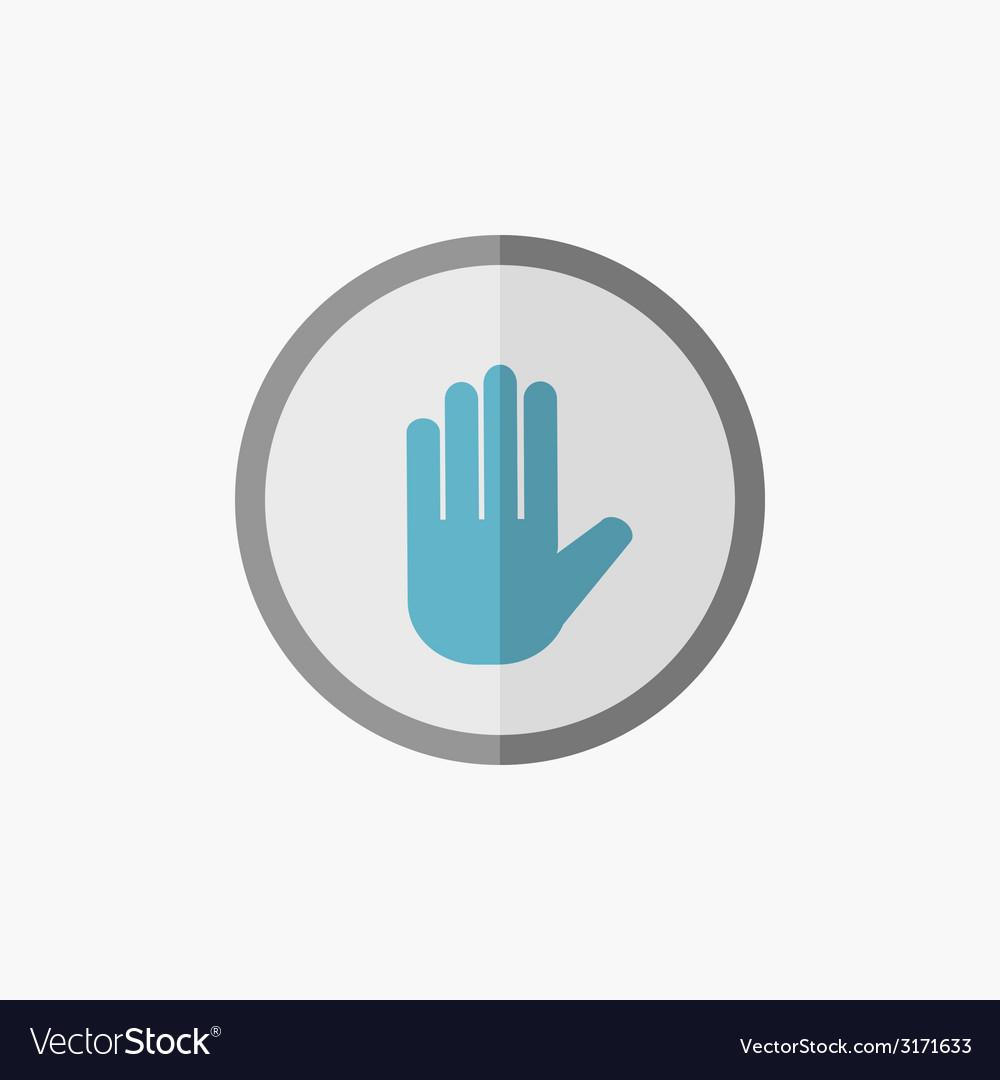 Hand flat icon vector | Price: 1 Credit (USD $1)