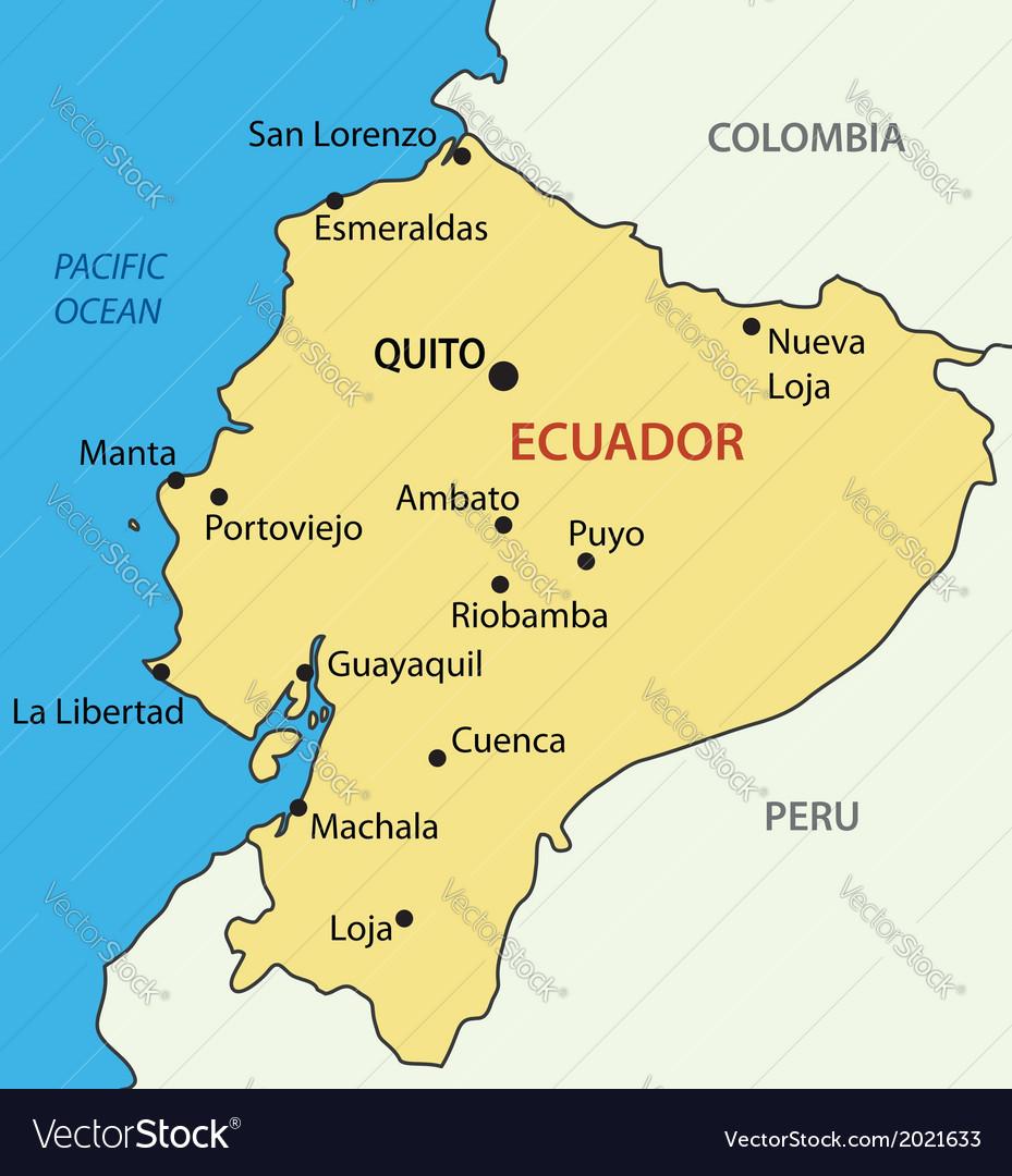 Republic of ecuador - map vector | Price: 1 Credit (USD $1)