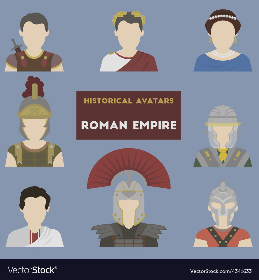 Set of historical avatars vector | Price: 1 Credit (USD $1)