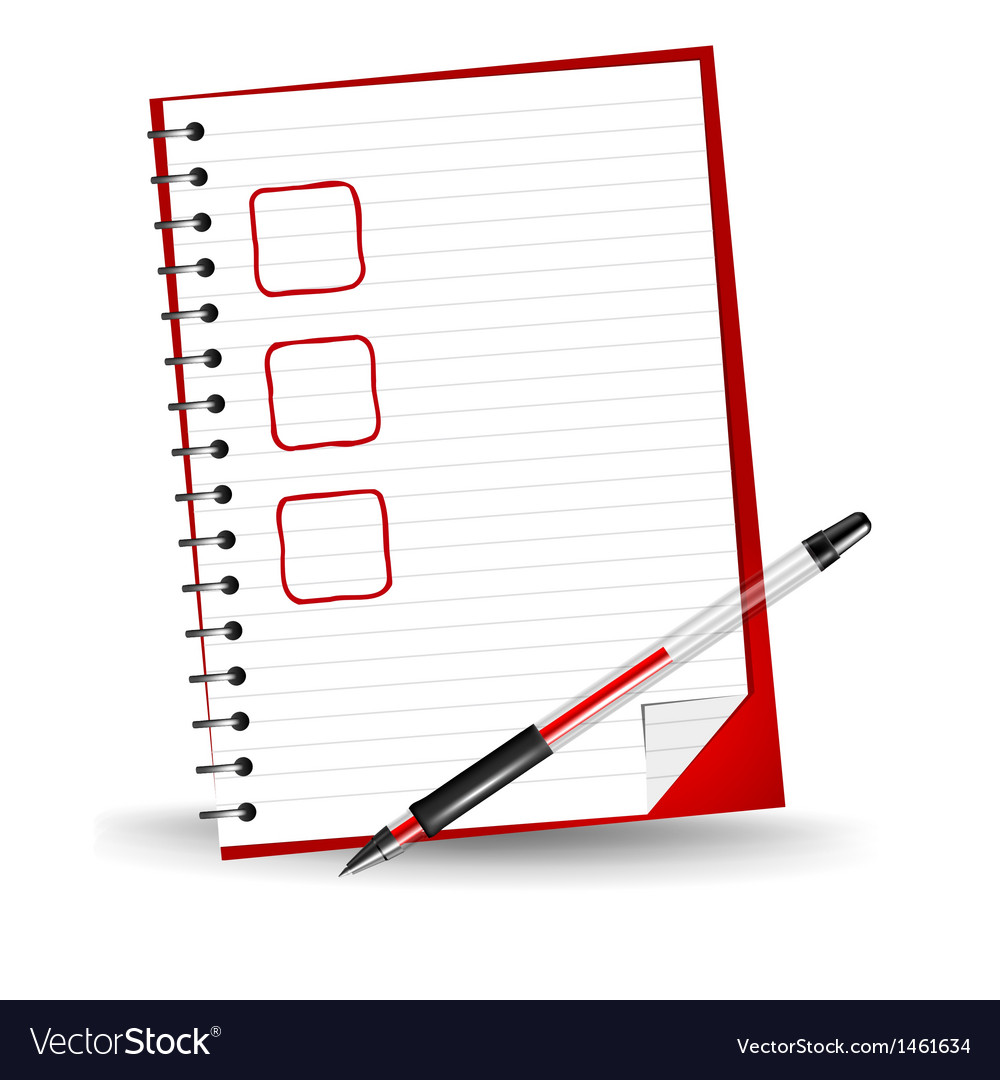 A checklist vector | Price: 1 Credit (USD $1)