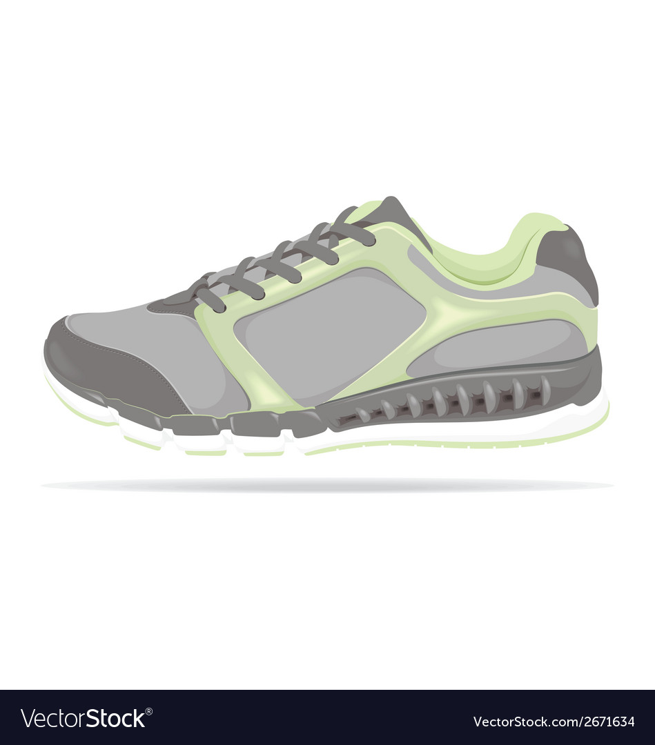 Detailed running shoe vector | Price: 1 Credit (USD $1)