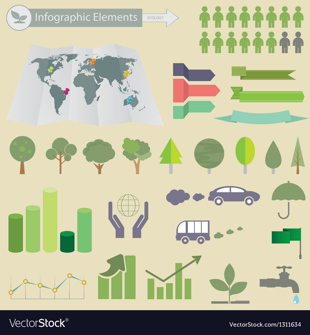 Ecological infographics vector | Price: 1 Credit (USD $1)