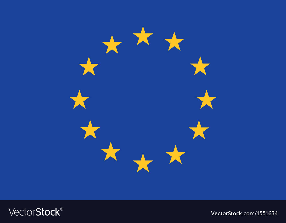 Eu flag vector