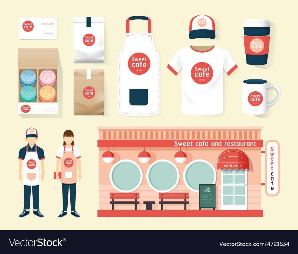 Restaurant cafe set shop front design flyer menu vector | Price: 1 Credit (USD $1)