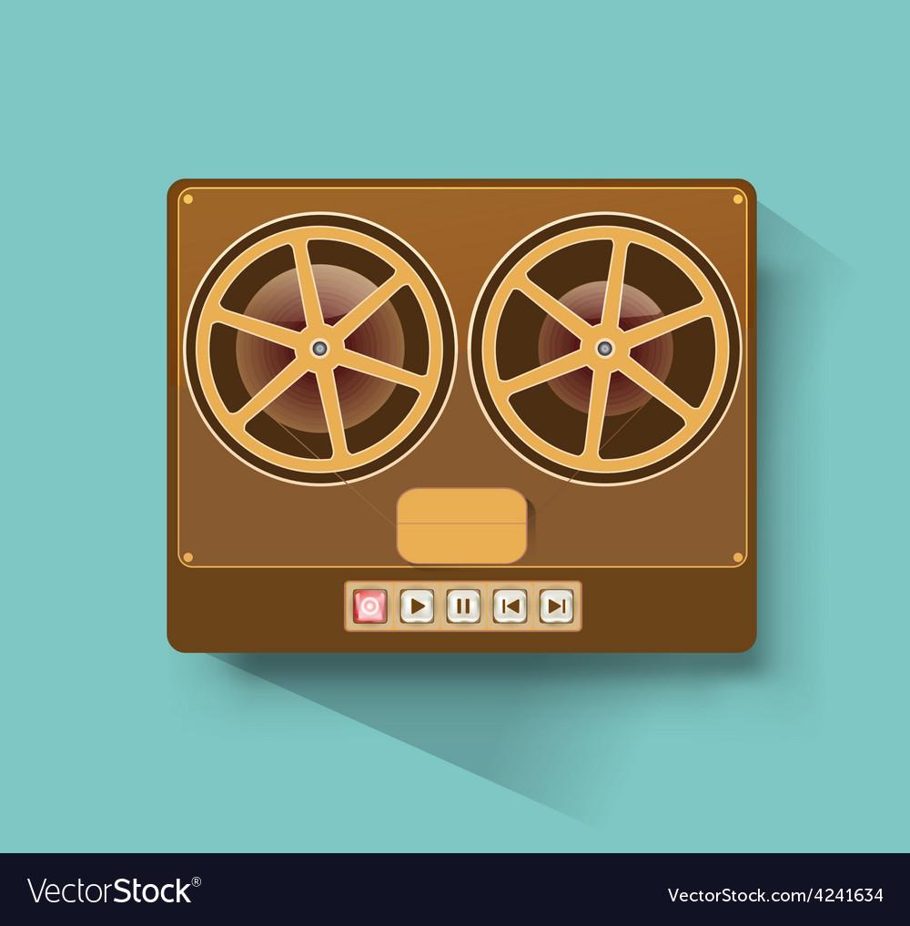 Retro recorder vector | Price: 1 Credit (USD $1)