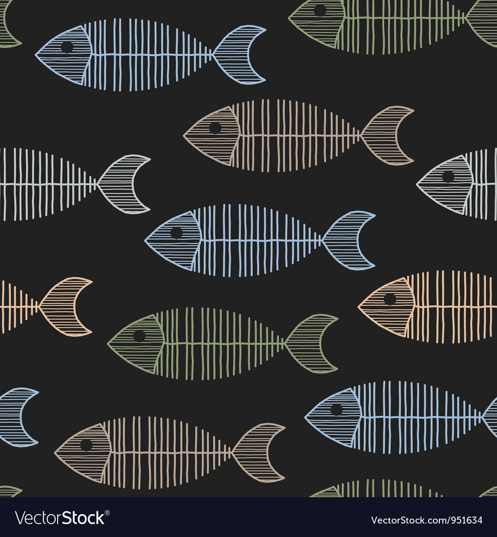 Seamless tile with 50s retro fish bone pattern vector | Price: 1 Credit (USD $1)