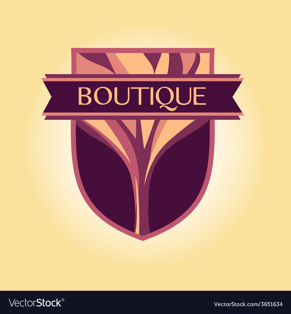 Style logo clothing accessories wood products vector | Price: 1 Credit (USD $1)
