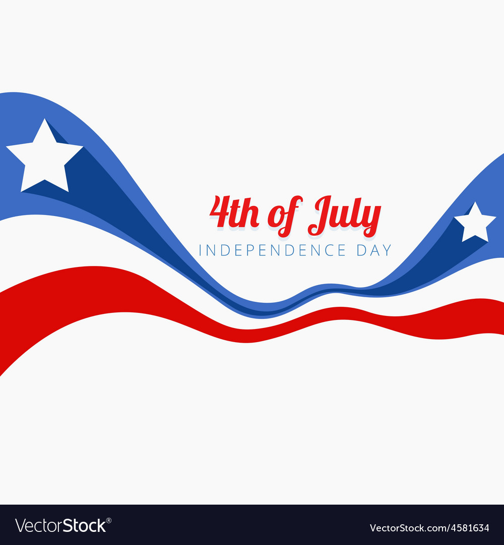 Wave style 4th of july vector | Price: 1 Credit (USD $1)
