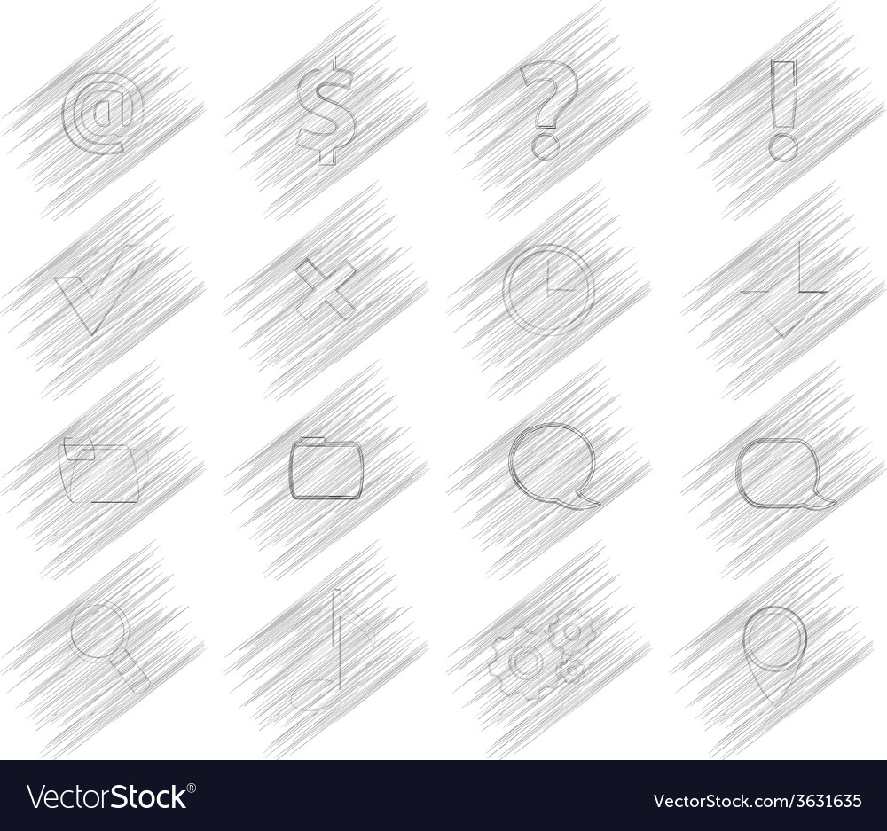 16 shaded icons vector | Price: 1 Credit (USD $1)