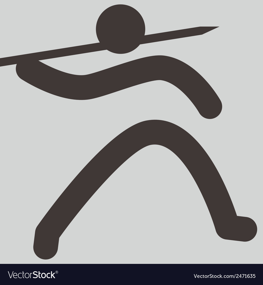 2145 javelin throw icon vector | Price: 1 Credit (USD $1)