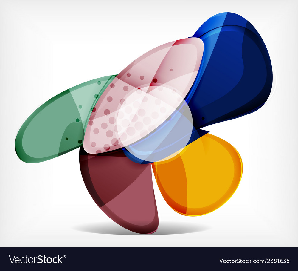 Abstract option infographic  glass round shapes vector