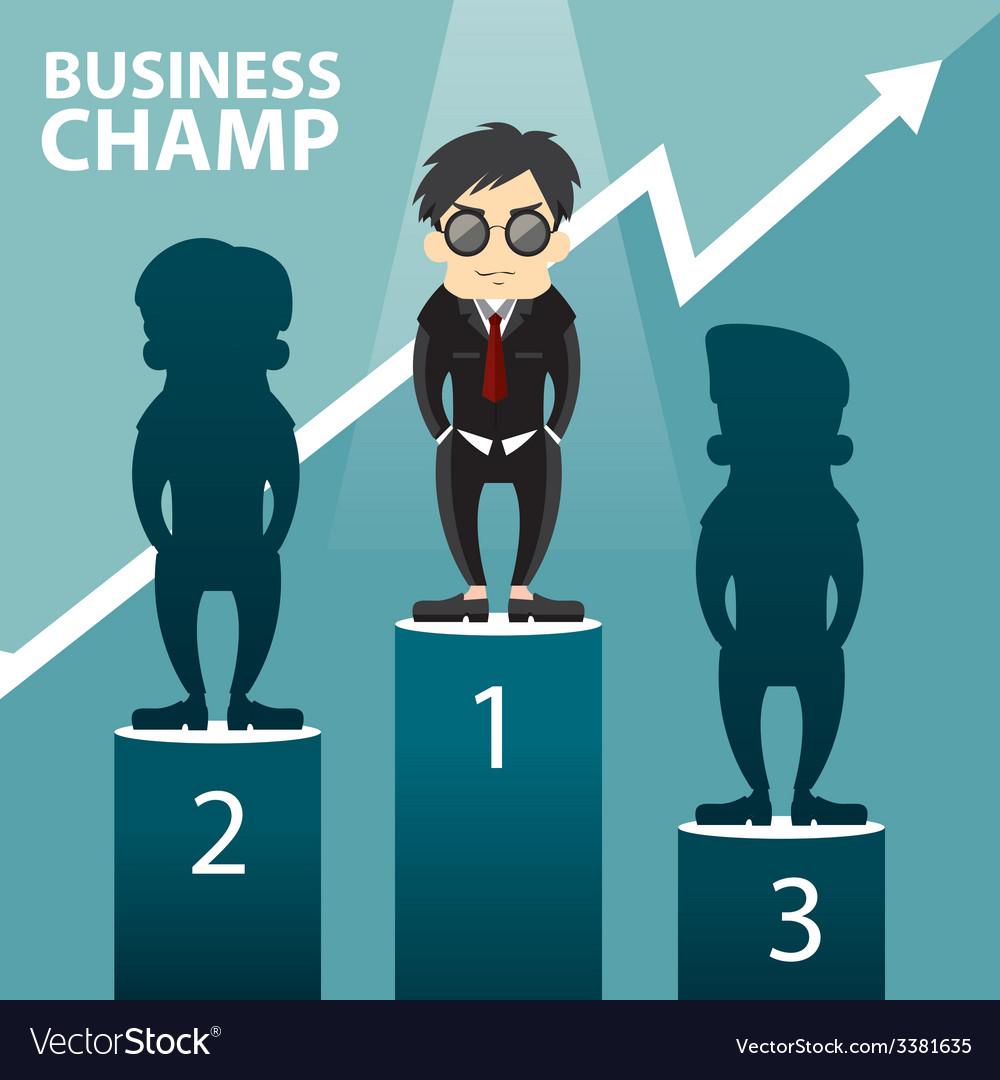 Business champ vector | Price: 1 Credit (USD $1)
