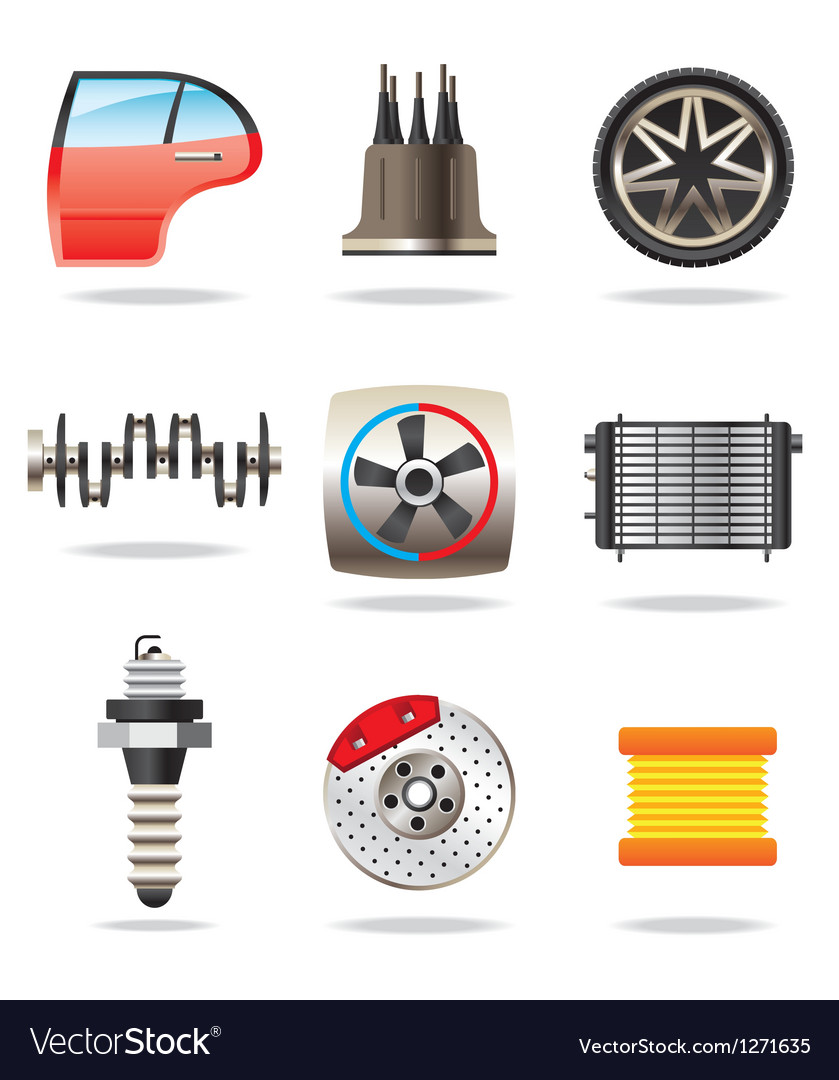 Car parts and symbols vector | Price: 3 Credit (USD $3)