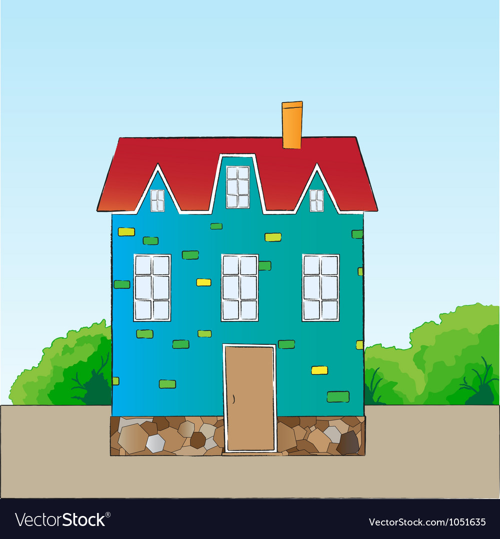 Cartoon style house vector | Price: 1 Credit (USD $1)
