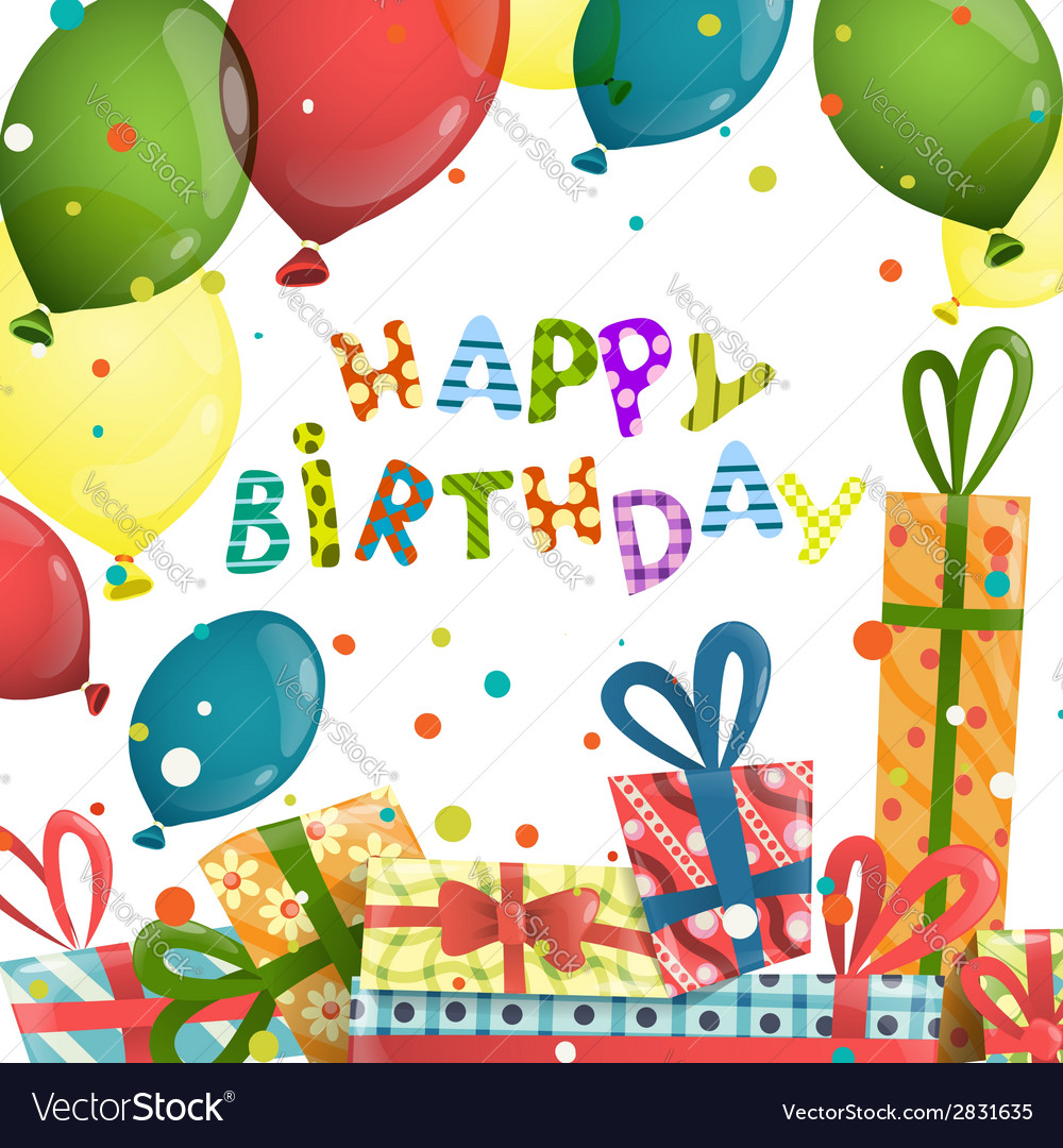 Colorful birthday background vector | Price: 1 Credit (USD $1)