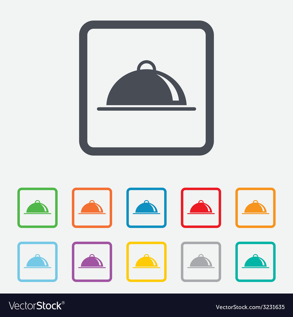 Food platter serving sign icon table setting vector | Price: 1 Credit (USD $1)