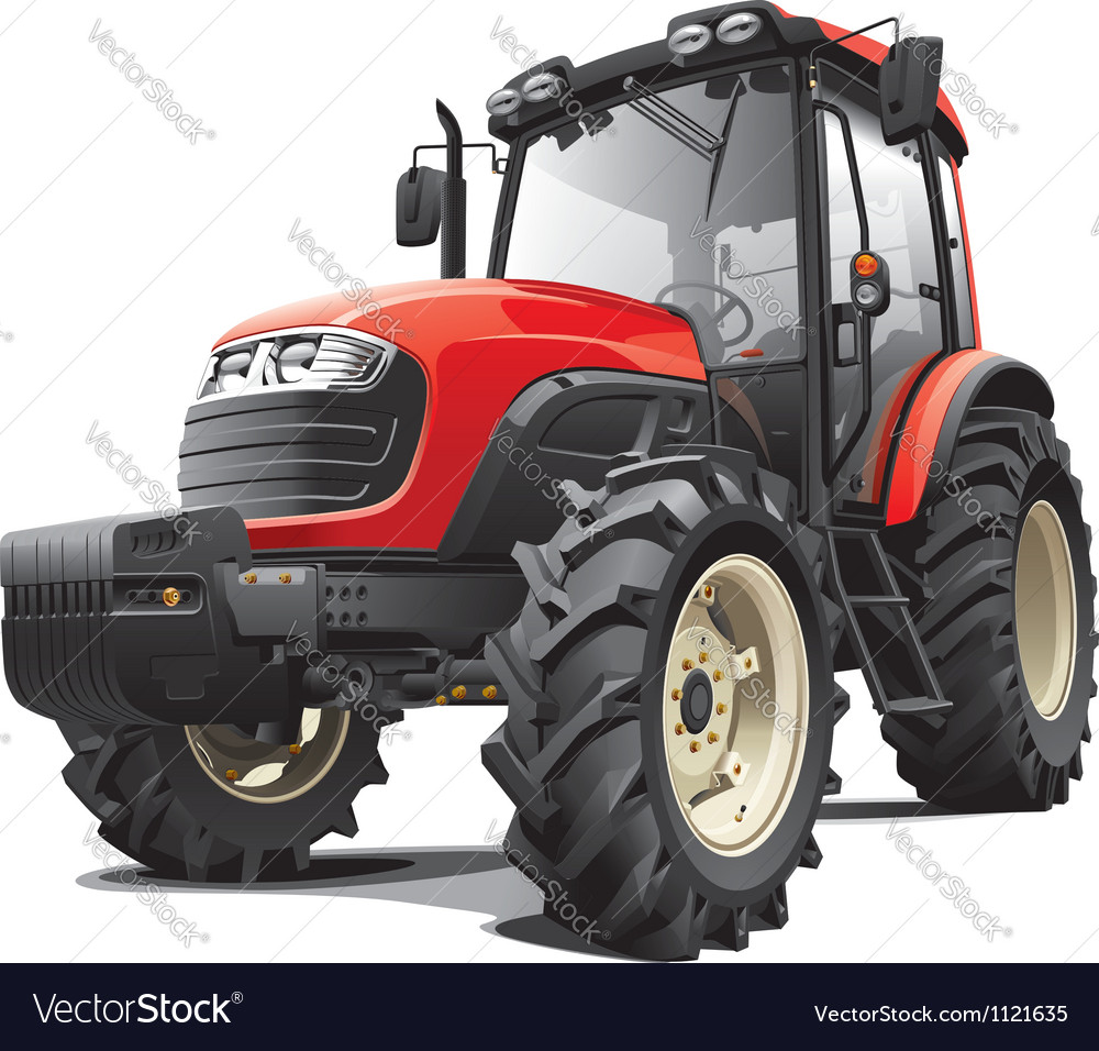 Red tractor vector | Price: 3 Credit (USD $3)