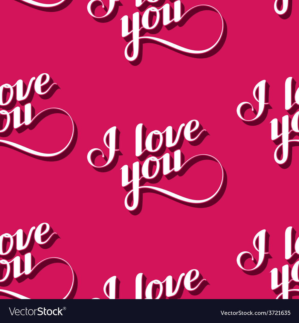 Seamless pattern of handwritten i love you vector   Price: 1 Credit (USD $1)