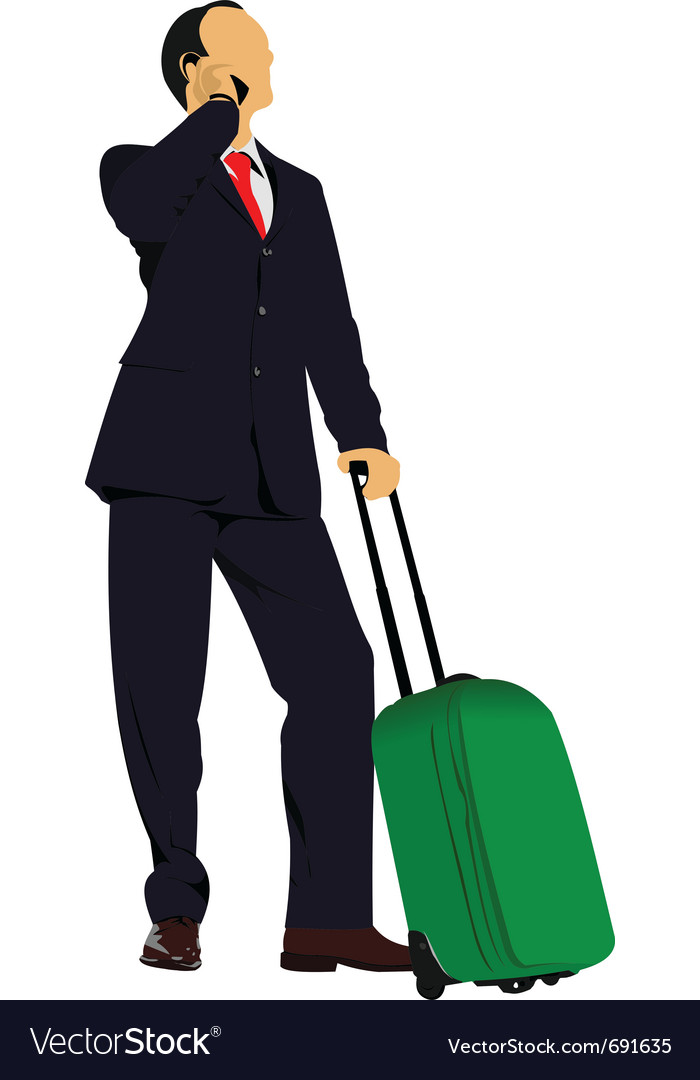 Travelling business vector | Price: 1 Credit (USD $1)