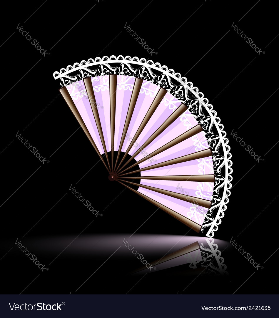White-pink fan vector | Price: 1 Credit (USD $1)