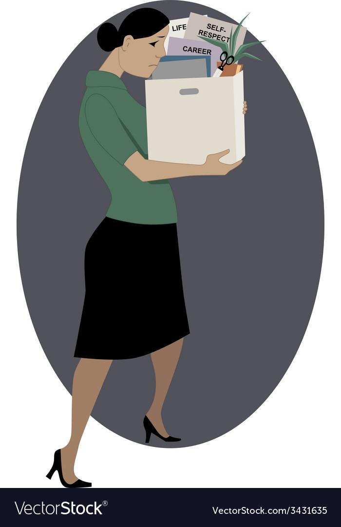 Woman lost her job vector   Price: 1 Credit (USD $1)