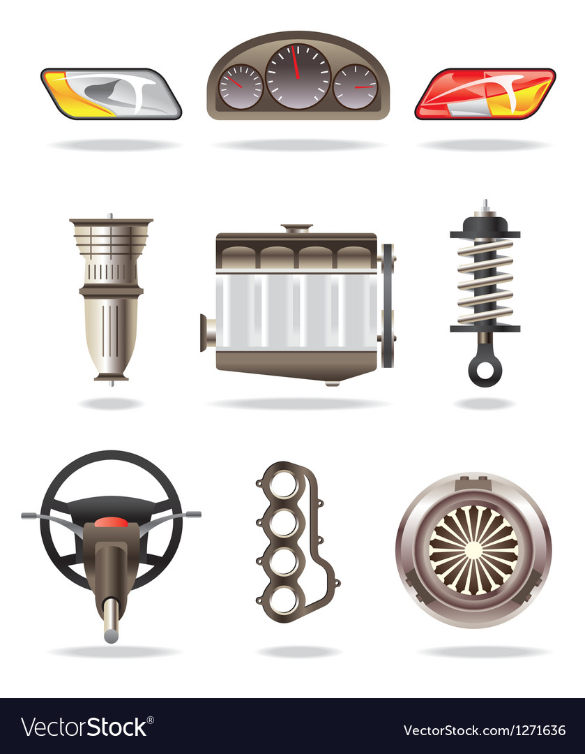 Car parts and accessories vector | Price: 3 Credit (USD $3)