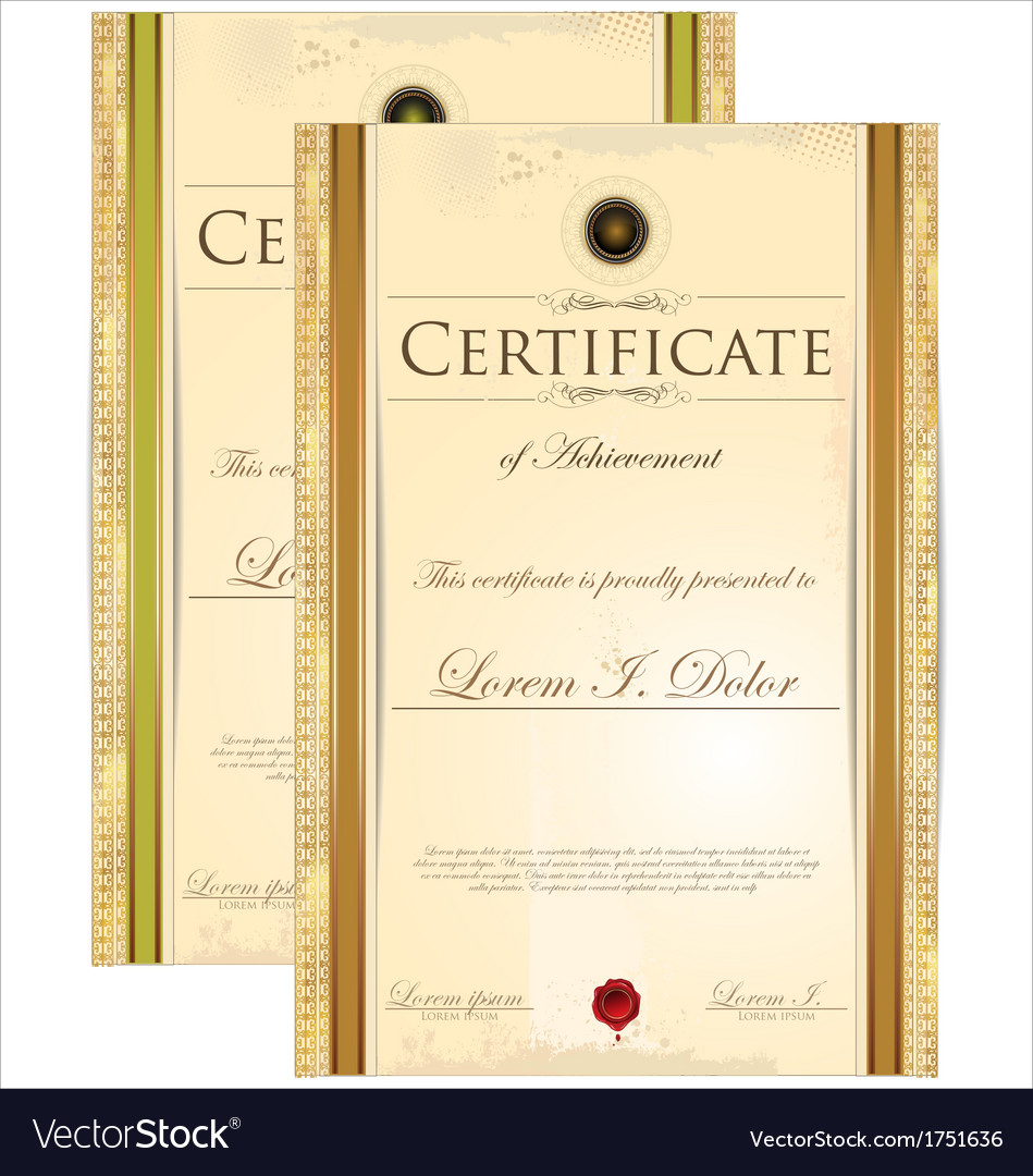 Certificate template set vector | Price: 1 Credit (USD $1)