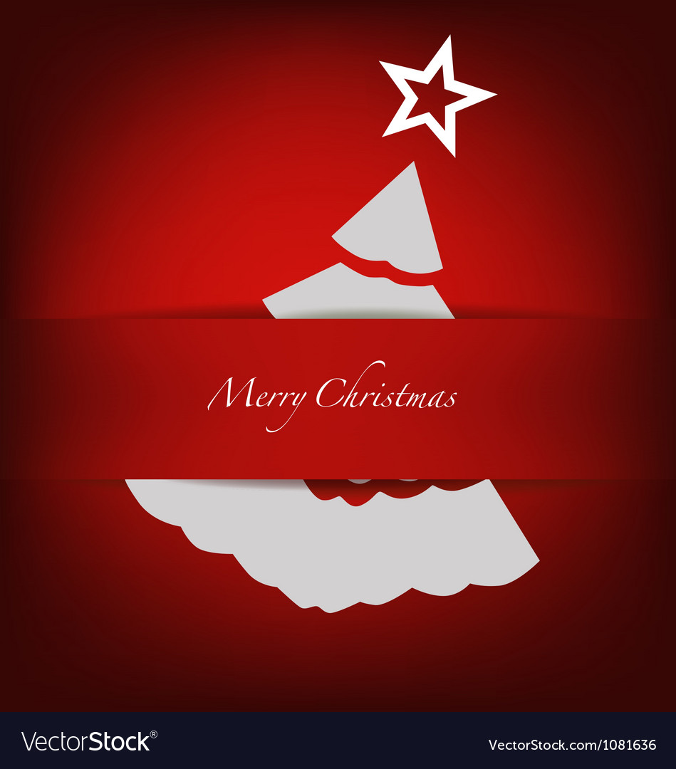 Christmas postcard with origami christmas tree vector | Price: 1 Credit (USD $1)