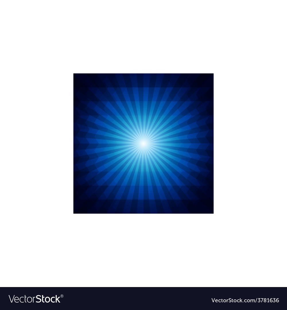 Deep blue dark geometric background with sunburst vector | Price: 1 Credit (USD $1)