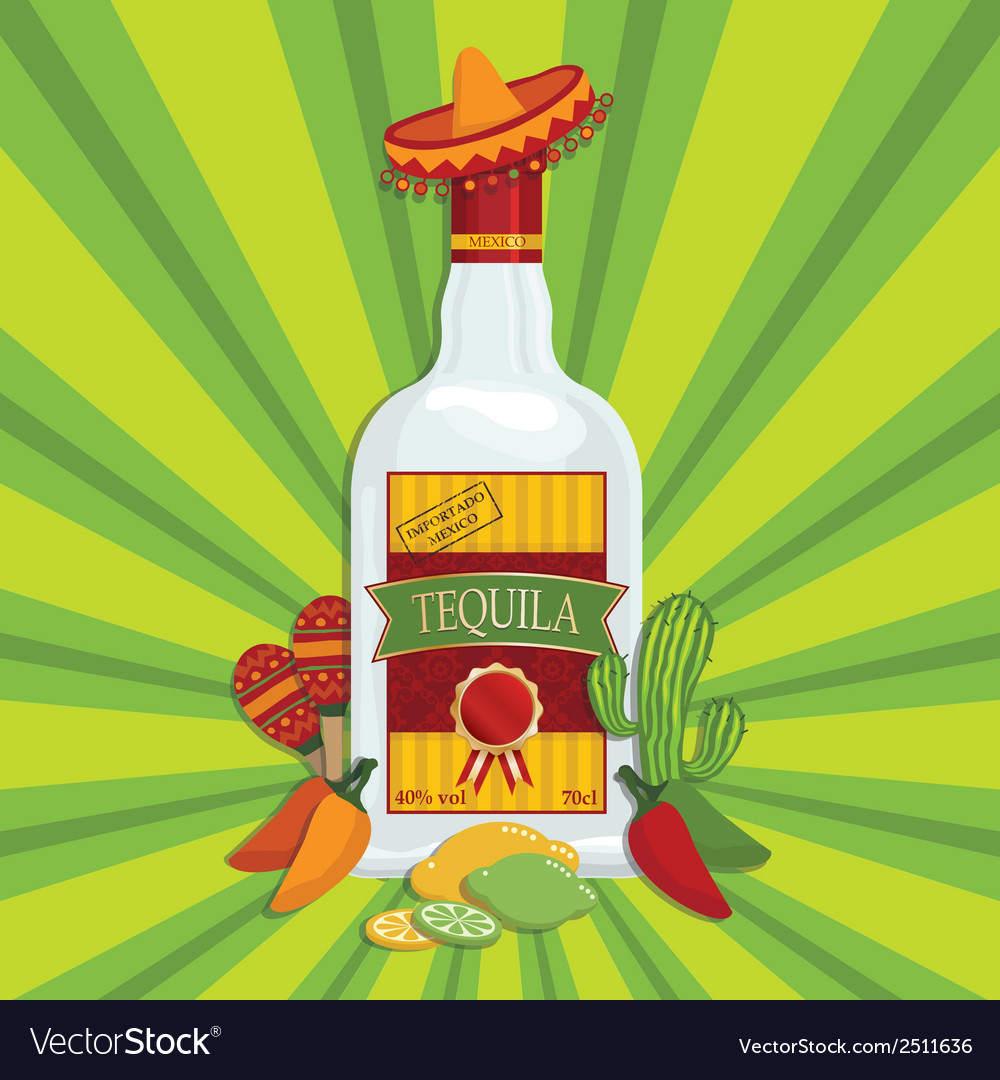 Mexican tequila decoration vector | Price: 1 Credit (USD $1)