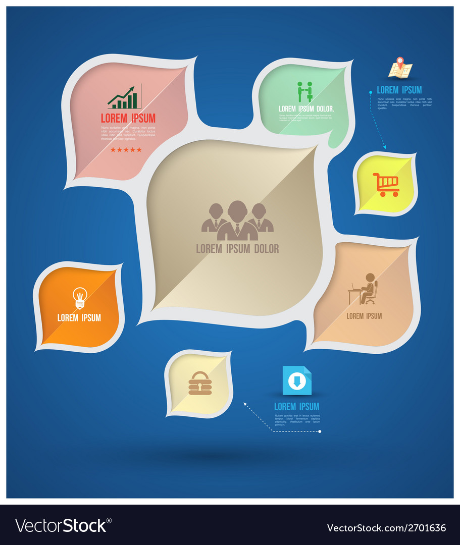 Modern info graphic with icons vector | Price: 1 Credit (USD $1)