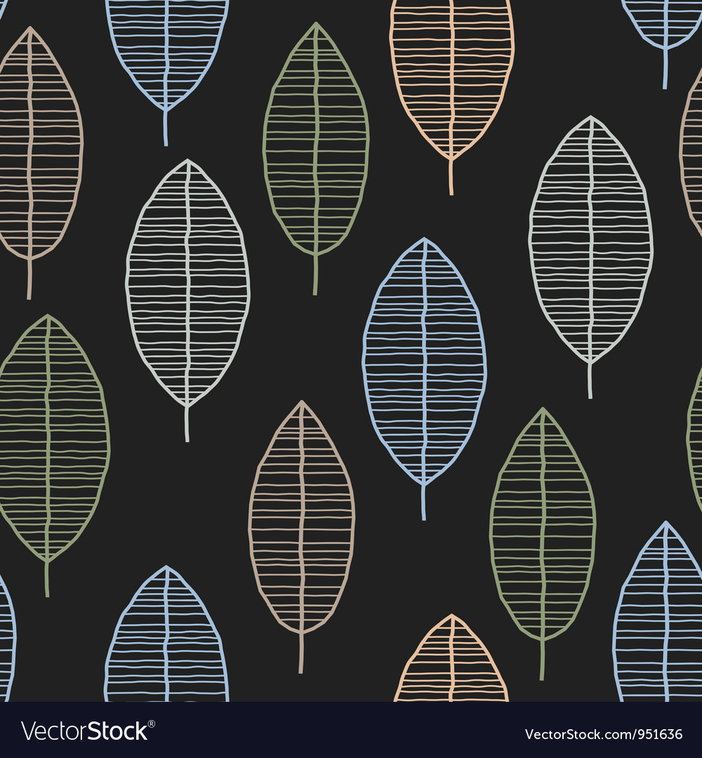 Seamless tile with 50s retro leaf pattern vector | Price: 1 Credit (USD $1)