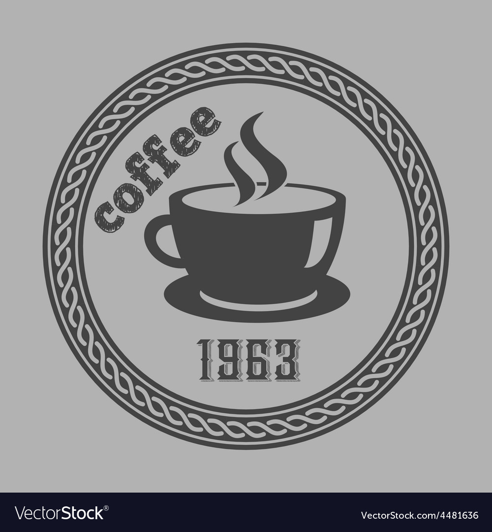 Vintage coffee themed monochrome labels vector | Price: 1 Credit (USD $1)